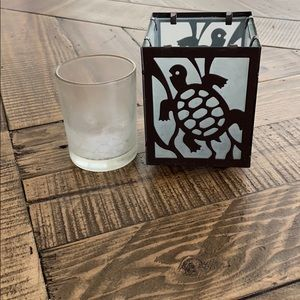 Pier 1 Accents - Turtle 🐢 Stained Glass Votive Holder